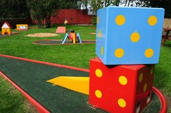 On warm dry days, why not have a game of crazy golf!