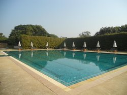 An inviting swimming pool