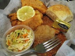 Italian Breaded Fried Cod, we cut and bread our own!