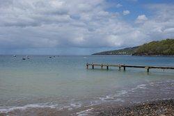 plage accessible à pied depuis rochers caraibes