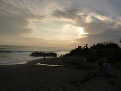 Local beach sunset