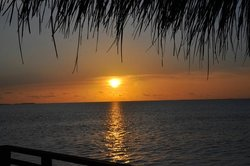 Sunset from the Prestige Water Villa