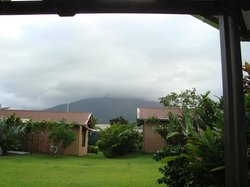 Volcano from room