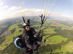 Tandemfliegen Chiemgau Flugerlebnis Bayern