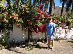 hubby with flowers