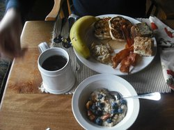 Just a sampling of what we collected  from the breakfast buffet