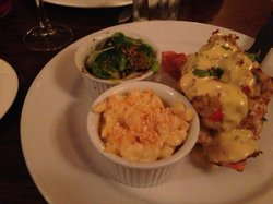 the lobster special with mac n cheese and sprouts