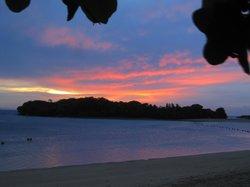 Bali sunrise from the beach at The Laguna Resort & Spa.