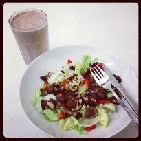 Salat og milkshaik