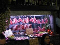 Florentine steaks on display