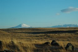 View of Hekla from the hotel