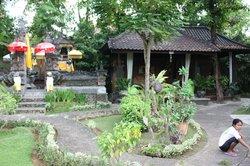 Jardin autour grande piscine