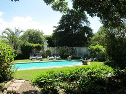 Amanzi's pool and pretty garden