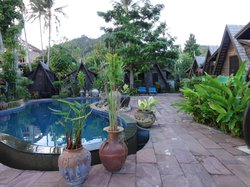 wonderful poolside bungalow