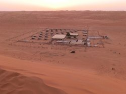 The camp, as seen from the dunes