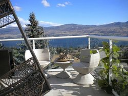Sit and relax on our beautiful deck overlooking the lake