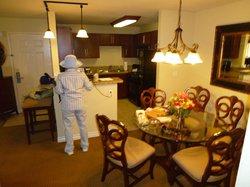 2 bdr Suite - Dining Room/Kitchen