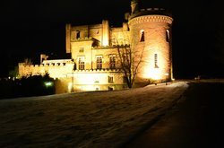 The castle night view