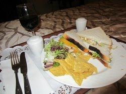 White bread chicken-salad sandwich :(