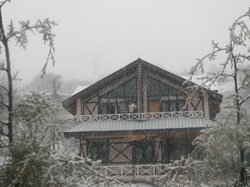 Hotel - We experienced snow in March 2nd week