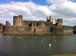 amazing Caerphilly castle