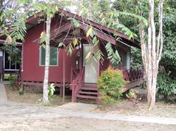 Our cabin at Sukau Greennview B&B