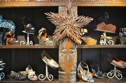 Shoe display inside the store