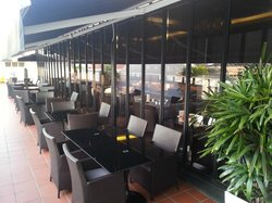 Dining area at rooftop