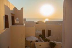 Sonnenaufgang im Hotel Epavlis