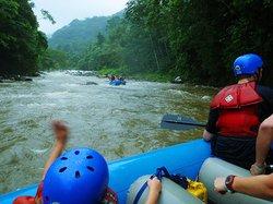 Rafting in the Jaguari river