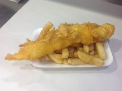 Tasty fish and chips at the chippy