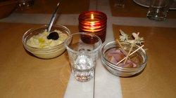 Raki, Fava and Volvi  -Appetizers