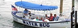 Waterbug Tours depart from the Beaufort waterfront every day starting at 10:15 in the morning.