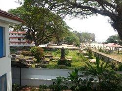 cemetery and beach
