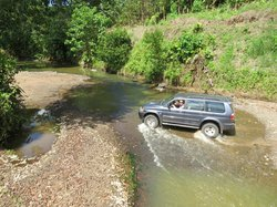 River crossing on the drive in - easy!  (Rent a 4-wheel drive)