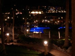 View from our balcony up to the main dining restaurant :)