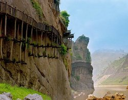 Mingyuexia Ancient Plank Road