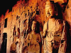 Qianfo Temple Cliffside Images