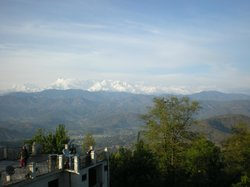 Himalayas from the rooms