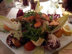 salade avec saumon