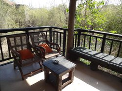 sitting area outside the cottage