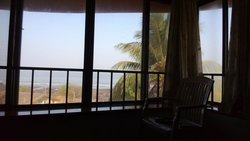 View from top floor room. Clicked from the bed facing the sea