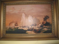 Large reproduction of famous painting in parlor