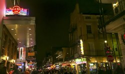 Hard Rock New Orleans located at Bourbon and Iberville Streets