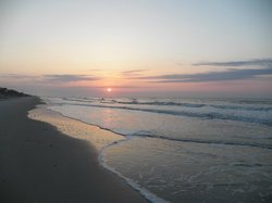 Sunrise from beach at The Beach House
