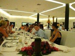Wedding reception at restaurant