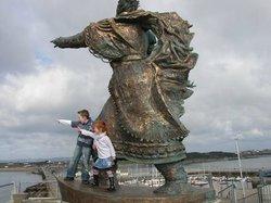 St. Brendan Statue at Fenit Pier (65057839)