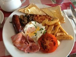 Full English breakfast with chips!