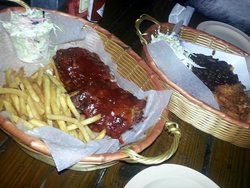 Baby back ribs ands coconut shrimp