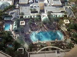 View of the Palazzo Pool from 26th floor